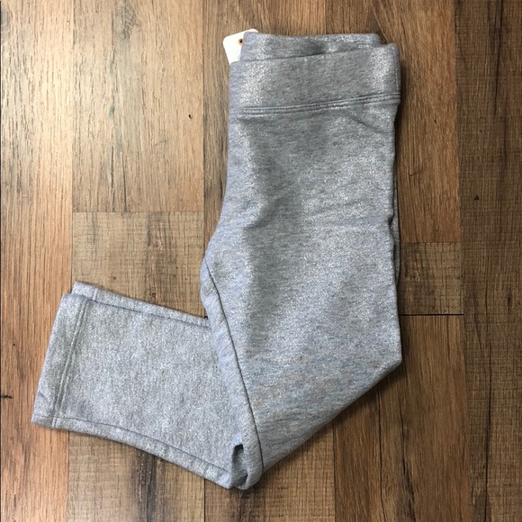 Gymboree Girls Cotton//Spandex Leggings Gray with Stars /& Hearts Size Large 10-12